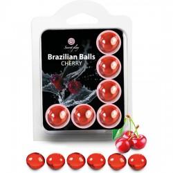 comprar SET 6 BRAZILIAN BALLS CEREZA