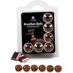 comprar SET 6 BRAZILIAN BALLS CHOCOLATE