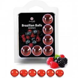 comprar SET 6 BRAZILIAN BALLS FRUTAS DEL BOSQUE