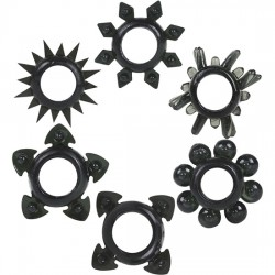 comprar ANILLOS SILICONA - TOWER OF POWER - 6 PACK NEGRO