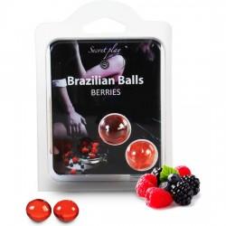 comprar SECRET PLAY SET 2 BRAZILIAN BALLS AROMA FRUTAS DEL BOSQUE
