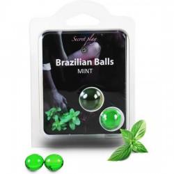 comprar SECRET PLAY SET 2 BRAZILIAN BALLS AROMA MENTA