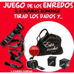 comprar BOLSA JUEGO ENREDOS NEGRO ATADURAS+2 DADOS