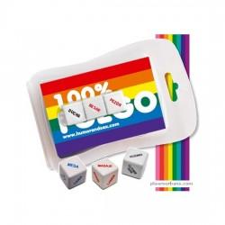 comprar BLISTER 100% FUEGO (3 MINI DADOS) LGTBI