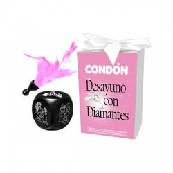 comprar CAJA DESAYUNO CON DIAMANTES (DADO+CONDON+PLUMA)