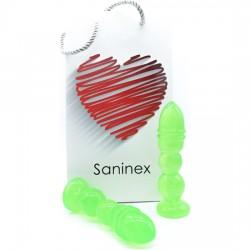 comprar SANINEX DELIGHT - PLUG & DILDO TRANSPARENTE VERDE