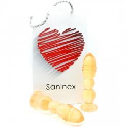 comprar SANINEX DELIGHT - PLUG & DILDO NARANJA TRANSPARENTE