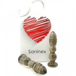 comprar SANINEX DELIGHT - PLUG & DILDO NEGRO TRANSPARENTE
